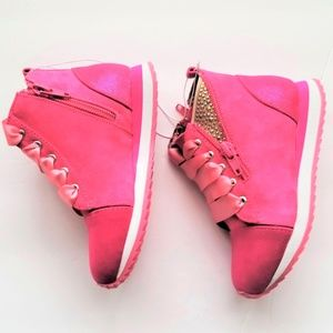 New Pink High Top Sneakers Toddler 7 & 9 Just Buds